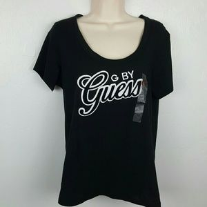 Guess Tops - Guess black cotton short sleeve top size M New